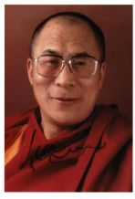 Dalai Lama Autograph Signed Photo